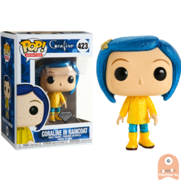 POP! Animation Coraline in Raincoat Glitter #423 Coraline Diamond Series