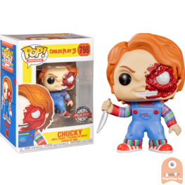 POP! Movies Chucky Battle Damaged Exclusive #798 Childs Play 3
