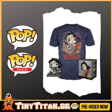 Funko POP! & TEE BOX DC Jim Lee Wonder Woman Exclusive PRE-ORDER