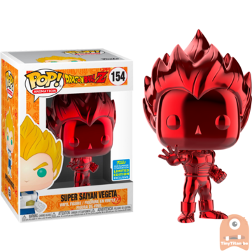 POP! Animation Super Saiyan vegeta Red Chrome #599 Dragonball Z - SDCC