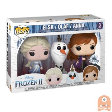 POP! Disney 3 Pack - Elsa (Dark Sea), Olaf & Anna - Frozen II