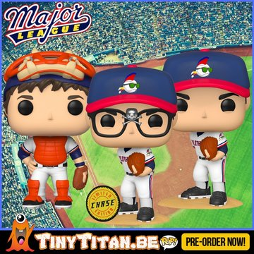 Funko POP! Bundle of 2 + Chase - Major League PRE-ORDER