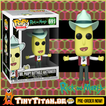 Funko POP! MR. Poopy Butthole Auctioneer - Rick & Morty PRE-ORDER