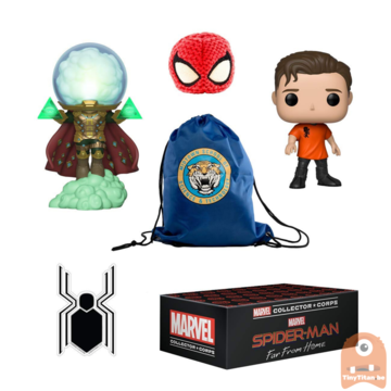 POP! Marvel Collector Corps Box Spider-man Far from Home Theme