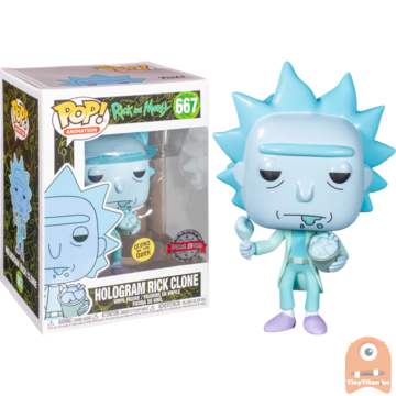 POP! Animation Hologram Rick Clone GITD #667 Rick and Morty - Cyber Monday Exclusive