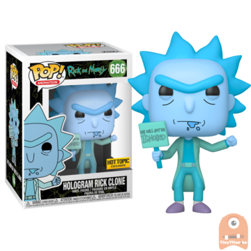 POP! Animation Hologram Rick Ignored Clone GITD #666 Rick and Morty Exclusive