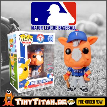 Funko POP! Rangers Captain texas Rangers Mascot Pre-Order