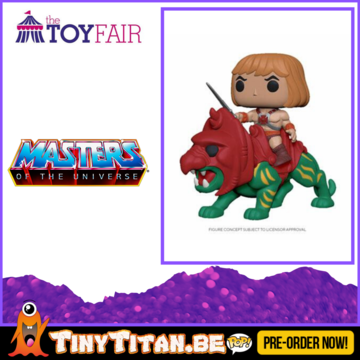 Funko POP! Ride He-man on battle Cat - Masters of the Universe Pre-Order