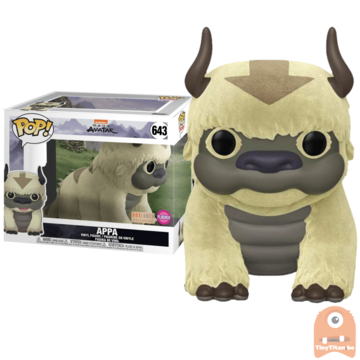 POP! Animation Flocked Appa 6 INCH #643 Avatar - The Last Airbender - Excl.