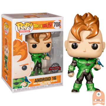 POP! Animation Android 16 Metallic #708 Dragonball Z - Exclusive