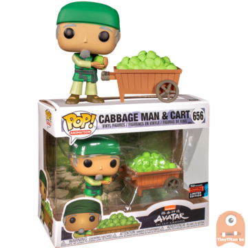POP! Animation Cabbage Man & Cart #656 Avatar - The Last Airbender - Excl. - NYCC
