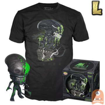 Funko POP! & TEE BOX Alien - Xenomorph Blood Spatter 40th B-day Exclusive - Large