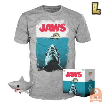 Funko POP! & TEE BOX Jaws - Bloody Great White Shark 6 INCH Exclusive - Large