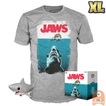 Funko POP! & TEE BOX Jaws - Bloody Great White Shark 6 INCH Exclusive - X-Large