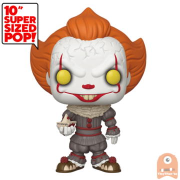 POP! Movies Pennywise w/ Boat 10 INCH #786 IT