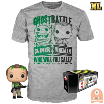 Funko POP! & TEE BOX Ghosbusters Dr. Peter Venkman with Slime Exclusive - X-Large