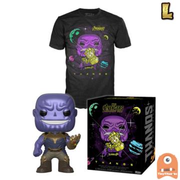Funko POP! & TEE BOX Thanos Metallic & Gauntlet Exclusive - Large