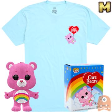 Funko POP! & TEE BOX Care Cheer Bear Flocked Exclusive - Medium