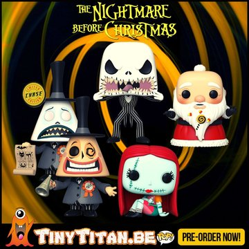 Funko POP! Bundle of 4 + Chase - Nightmare before Christmas Pre-Order