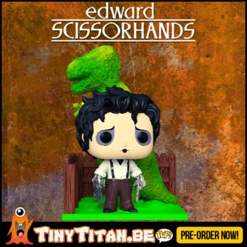 Funko POP! Deluxe Edward & Dino hedge - Edward Scissorhands Pre-Order