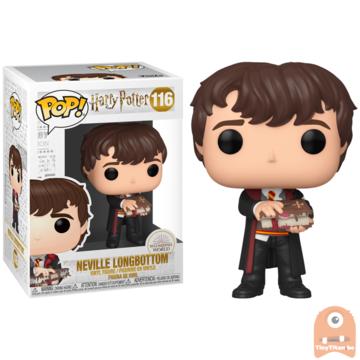 POP! Harry Potter Neville Longbottom w/ Monster Book #116
