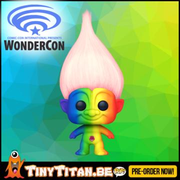 Funko POP! Rainbow Troll w/ Pink Hair - WonderCon Excl.  Pre-Order
