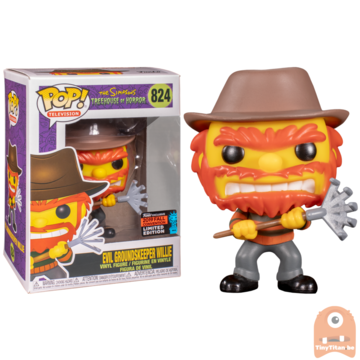 POP! Television Evil Groundskeeper Willie as Freddy Krueger #824 The Simpsons Excl. NYCC