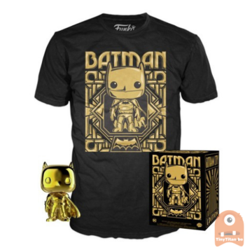 POP! Collectors Box: Batman Gold POP! & T-Shirt (Large)