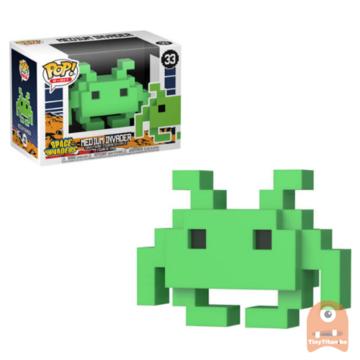 POP! 8-Bit Medium Invader - Green #33 Space Invaders