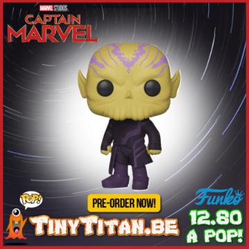 Funko POP! Talos PRE-ORDER Captain Marvel