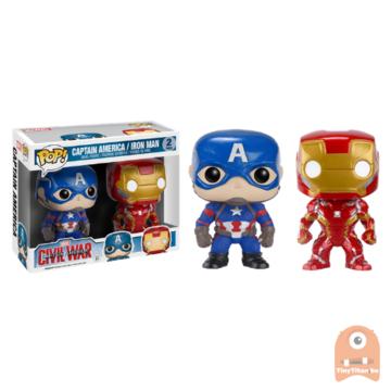 POP! Marvel Captain America and Iron Man - 2-Pack Civil War