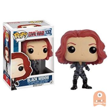POP! Marvel Black Widow #132 Civil War Captain America - Vaulted