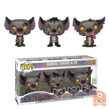 POP! Disney Banzai, Shenzi, Ed Hyenas 3-Pack ECCC LE - Lion KIng
