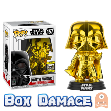 POP! Star Wars Darth Vader Gold Chrome #157 Galactic Convention - DMG