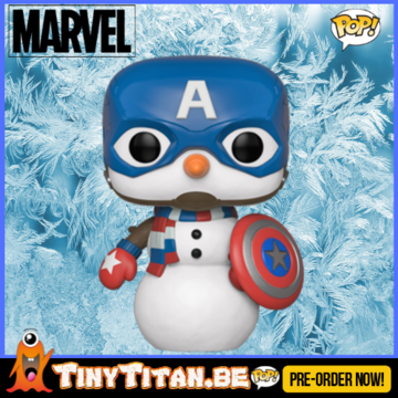 Funko POP! Captain America as Snowman - Marvel Christmas Holiday PRE-ORDER