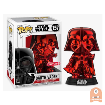 POP! Star Wars Darth Vader Red Chrome #157 Excl.