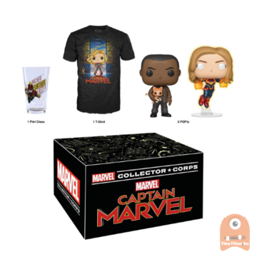 POP! Marvel Collector Corps Box Captain Marvel Theme (Size Large)
