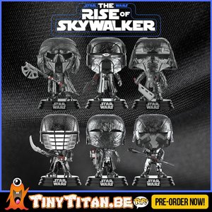 Funko POP! Knight of Ren Bundle of 6 Chrome - Star Wars The Rise of Skywalker PRE-ORDER
