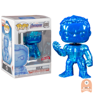 POP! Marvel Avengers Endgame Hulk w/ nano gauntlet Blue Chrome #499 Exclusive