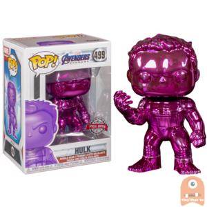 POP! Marvel Avengers Endgame Hulk w/ nano gauntlet Purple Chrome #499 Exclusive