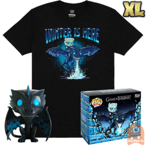 Funko POP! & TEE BOX GITD Icy Viserion - Game of Thrones Exclusive - X-Large