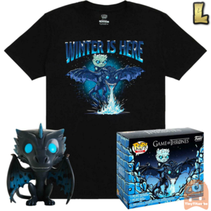 Funko POP! & TEE BOX GITD Icy Viserion - Game of Thrones Exclusive - Large