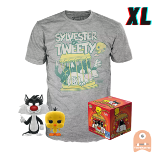Funko POP! & TEE BOX Sylvester & Tweety Flocked Exclusive - X-Large