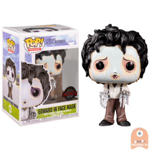 POP! Movies Edward In Face Mask #983 Edward Scissorhands Exclusive