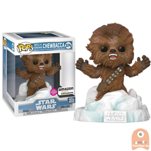 POP! Deluxe, Star Wars: Battle at Echo Base Series - 6 Inch Chewbacca Flocked #374 Exclusive