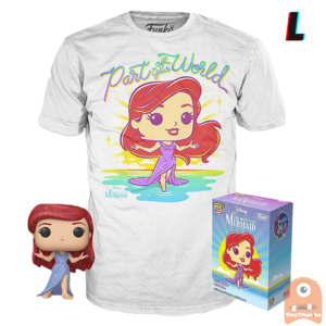 Funko POP! & TEE BOX The Little Mermaid Purple Dress Diamond Collection Exclusive - Large