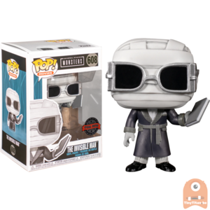 POP! Movies The Invisible Man Black & White #608 Universal Studios Monsters Exclusive
