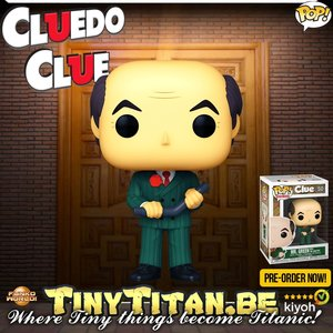 Funko POP! Mr. Green W/ Lead Pipe - Clue / Cluedo Pre-Order