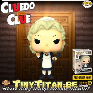 Funko POP! Mrs. White w/ Wrench - Clue / Cluedo Pre-Order