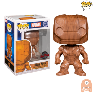 POP! Marvel Iron Man Wood Deco #674 Exclusive